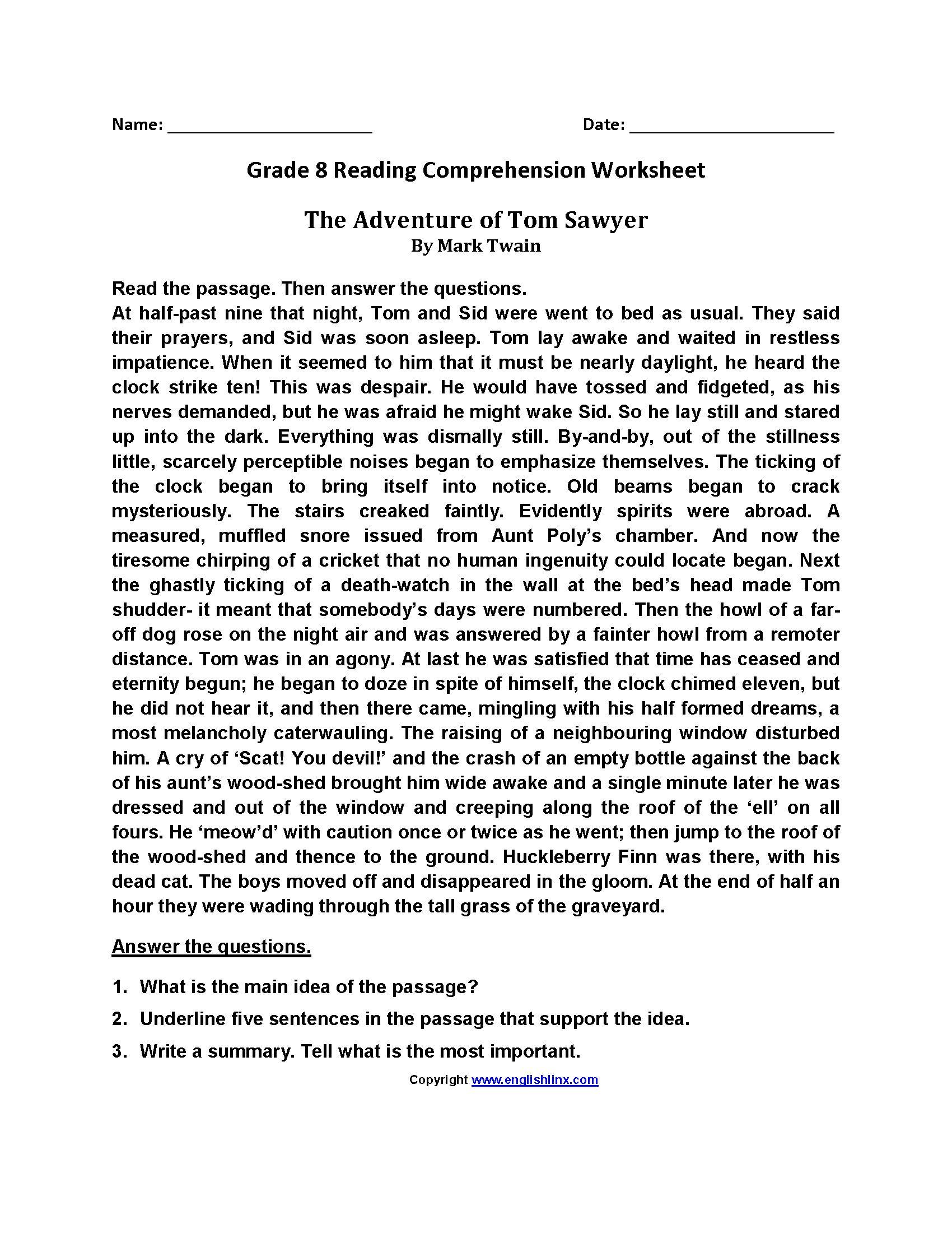 Reading Comprehension High School Worksheets Pdf Excelguider Com In 2020 Comprehension Worksheets Reading Worksheets Reading Comprehension
