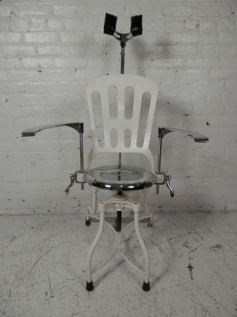 Antique metal dental chair chair antique