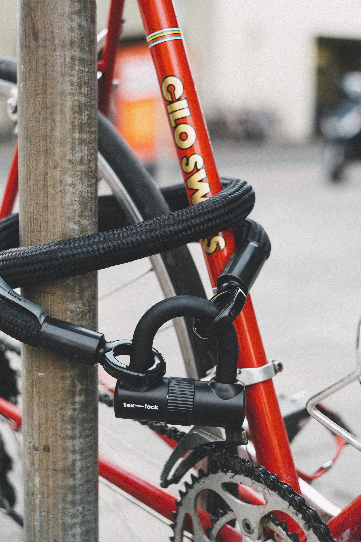 Black Combination Cable Lock Bike