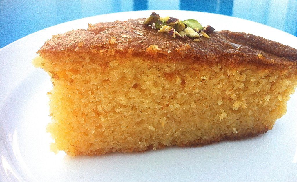Ravani (Sponge cake with Syrup and flaked Coconut)