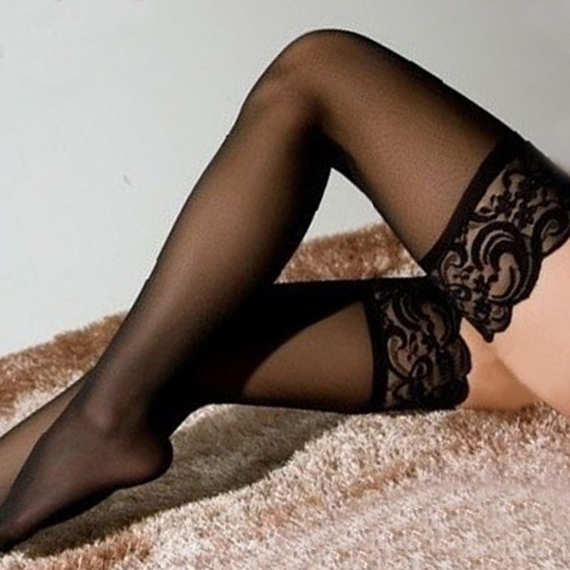 3f98e40aa Newest Women Lace Top Sexy Lingerie Black Fishnet Thigh High lace sexy  stockings thigh high stockings