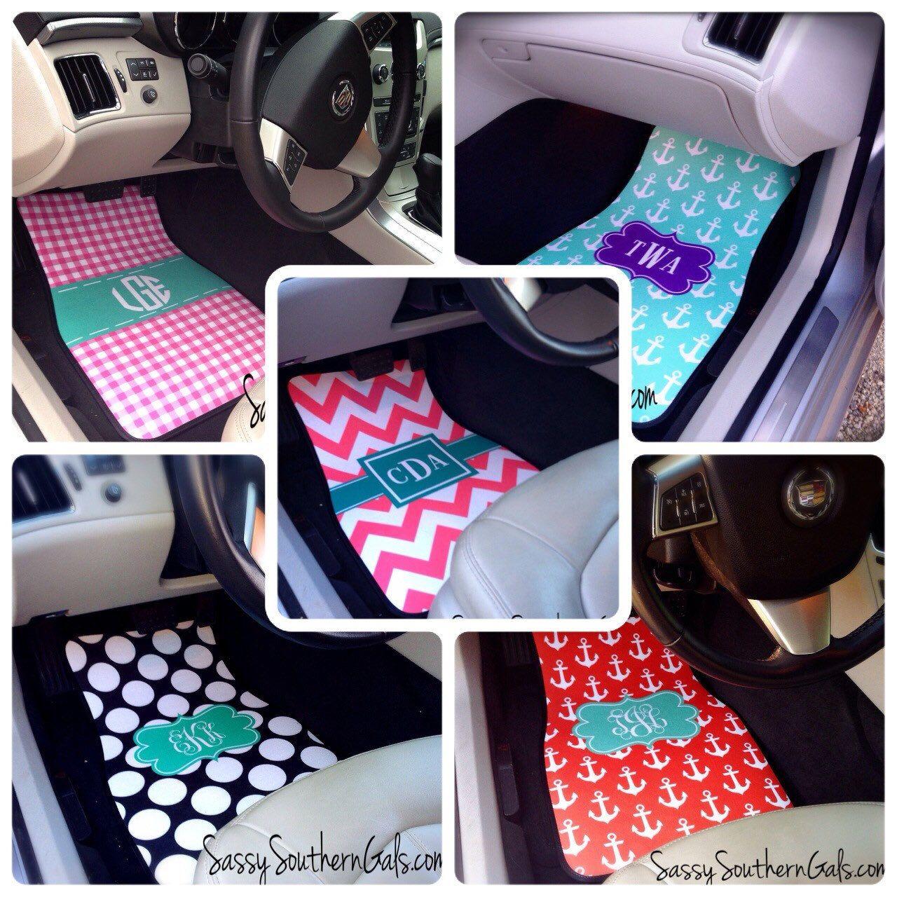 Monogrammed Car Floor Mats, Monogrammed Car Accessories, Monogrammed ...