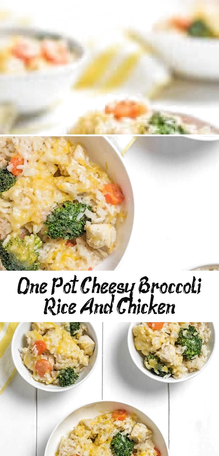 This One Pot Cheesy Broccoli, Chicken and Rice is packed full of healthy vegetables for balance alongside satisfying rice and ooey gooey cheese. And it saves on washing up by being a one pot wonder! A great weeknight dinner for the whole family! #onepot #dinner #weeknight #kidfriendly #familydinner #easytoddlermeals #yummyfoodBurger #yummyfoodNutella #yummyfoodPizza #yummyfoodTasty #yummyfoodWallpaper