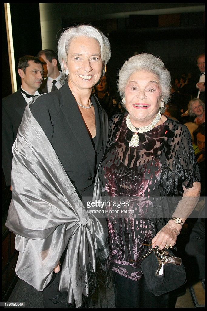 Christine Lagarde and Baroness Philippine De Rothschild at