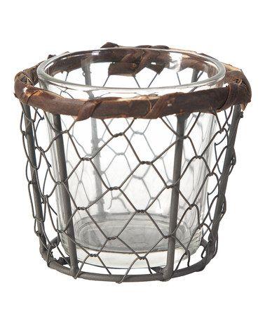 Look at this #zulilyfind! Wire Mesh & Glass Candleholder #zulilyfinds
