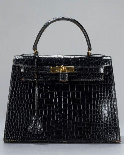 Hermes Kelly 28 cm Crocodile Alligator GHW Bag