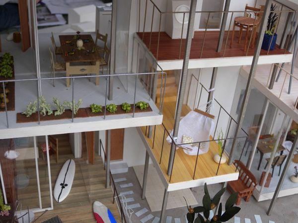 テラス ハウス テラス ハウス 建築モデル シェアハウス