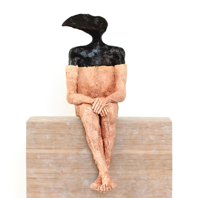 Black 1 ceramic sculpture etsy ceramic sculpture
