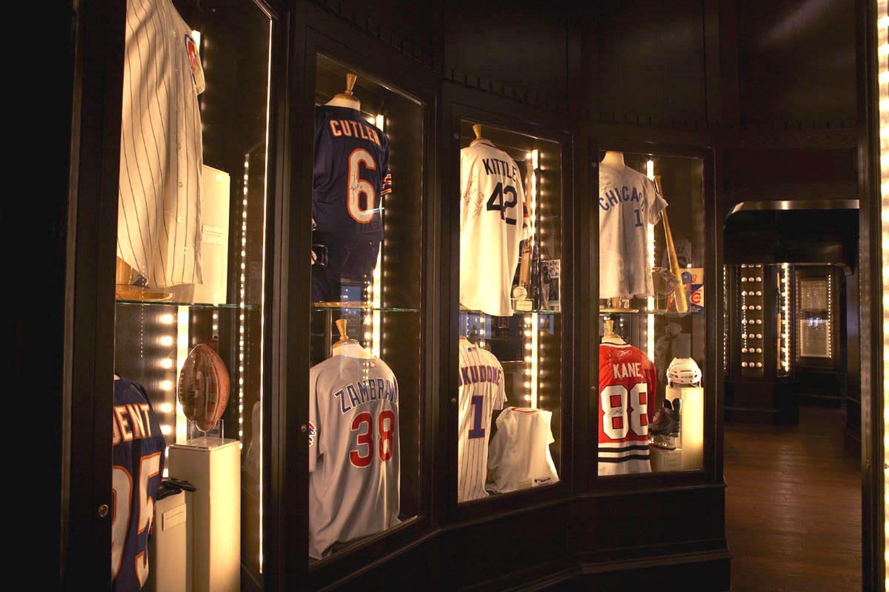 jersey Sports memorabilia room, Sports memorabilia