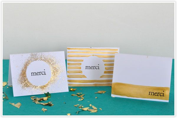 Diy Gilded Thank You Cards Birthday Cards Diy Greeting Cards Diy Cards