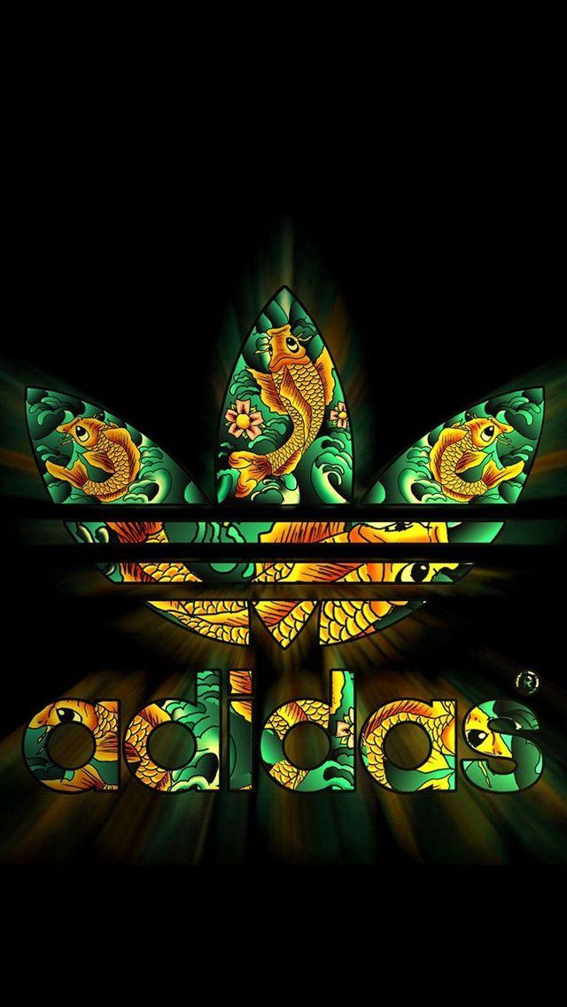 Logotipo de Adidas oscuro patrón brillante iPhone 5S Wallpaper iPhone se