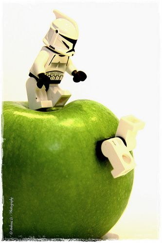 "LEGO stormtrooper mischief ""Go through to the core"" (via wnd.andreas)"