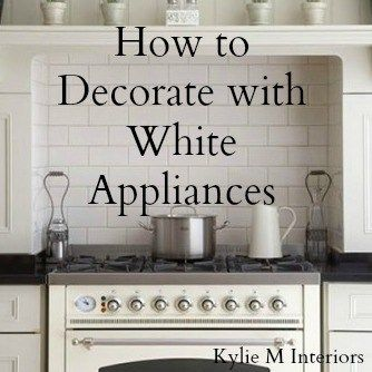 Ideas For How To Decorate With White Appliances. Decorating Ideas Including  Countertop And Painted Kitchen