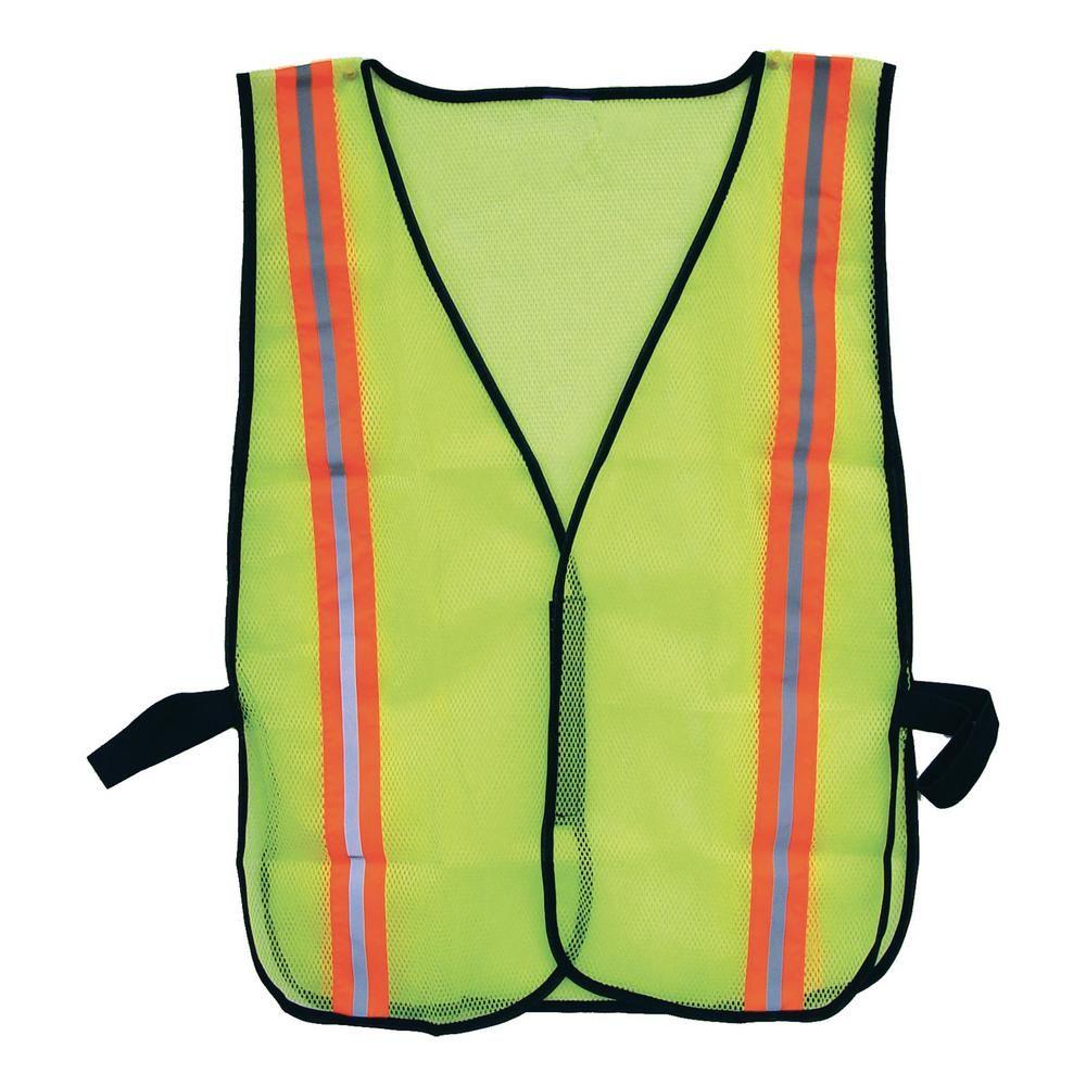 Bon Tool High Visibility Safety Vest Adult Unisex High Visibility Yellow Safety Vest Injury Prevention