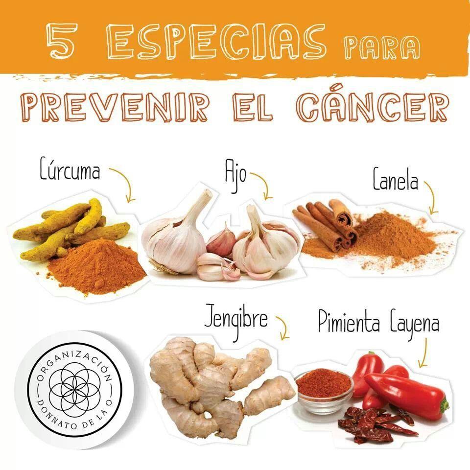 5 ESPECIAS PARA PREVENIR EL CANCER ... Donnato de la O | trofologia ...