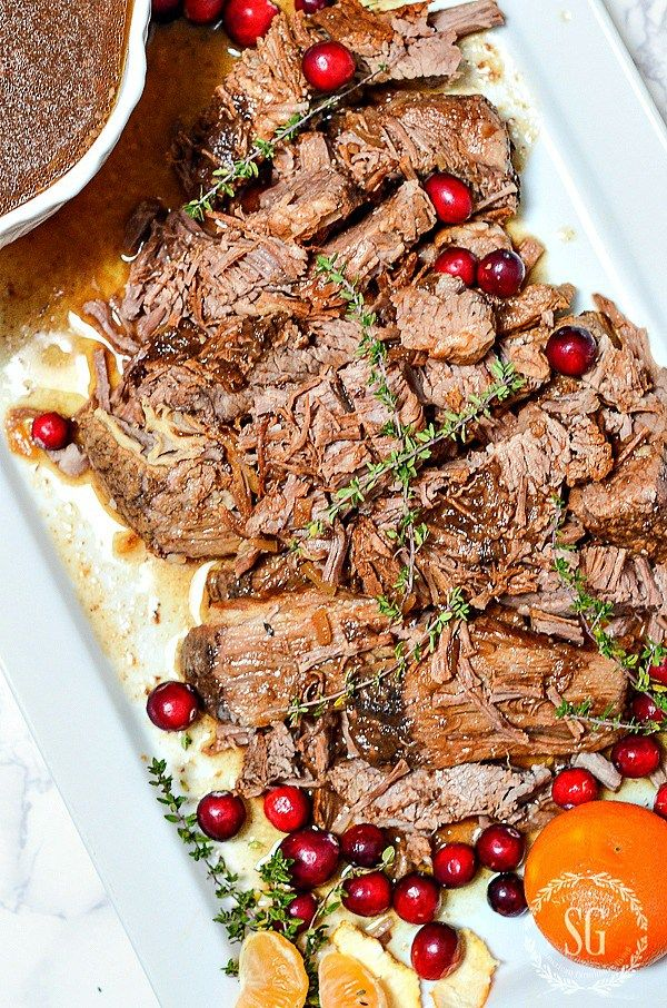 Holiday Beef Brisket A Scrumptious Slow Cooker Make Ahead Christmas Main Course Christmas Food Dinner Christmas Dinner Main Course Beef Brisket Recipes