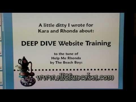 "My First Cake Blog Post - ""Help Me Rhonda""   All4Fun Cakes LLC"
