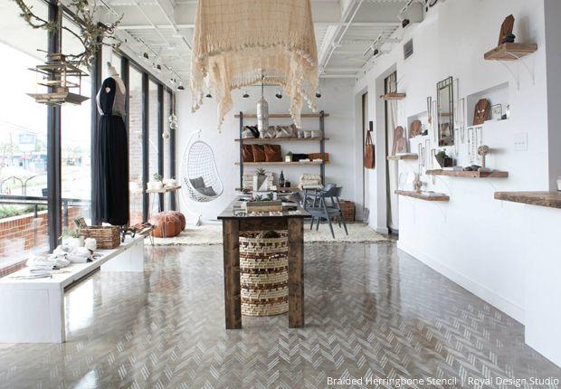 Stylishly Stenciled Floors Paint Pattern Flooring