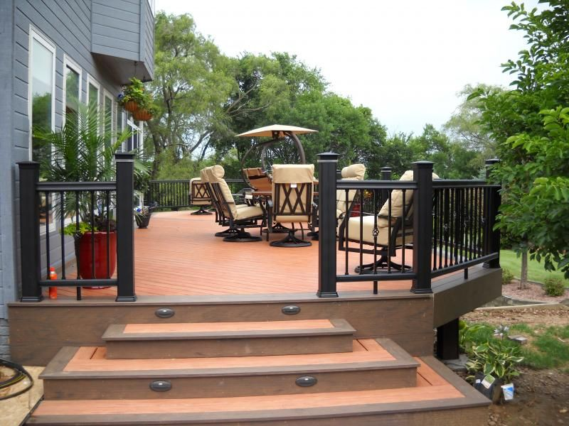 Awesome TimberTech Earthwood Deck In Tropical Rosewood With Tropical Walnut Border