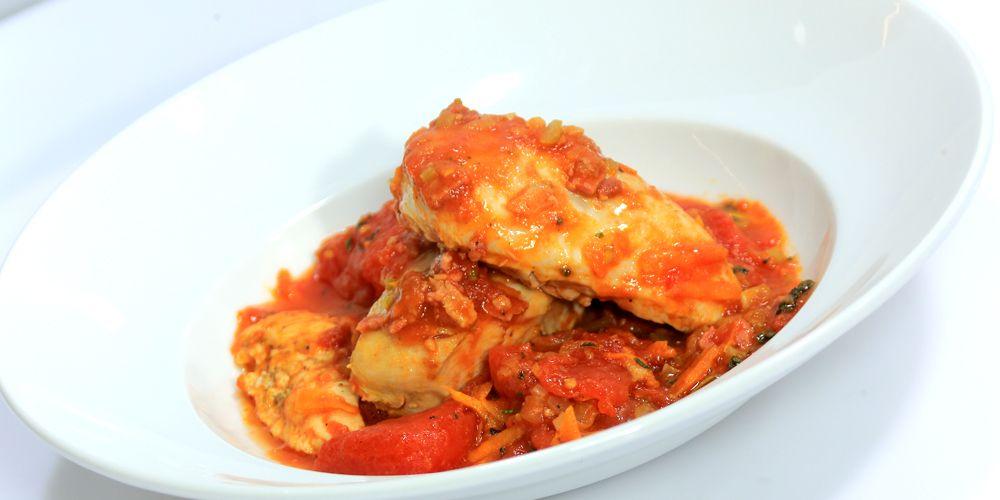 صدوردجاج مخبوزبصوص الطماطم Egyptian Food Recipes Cooking