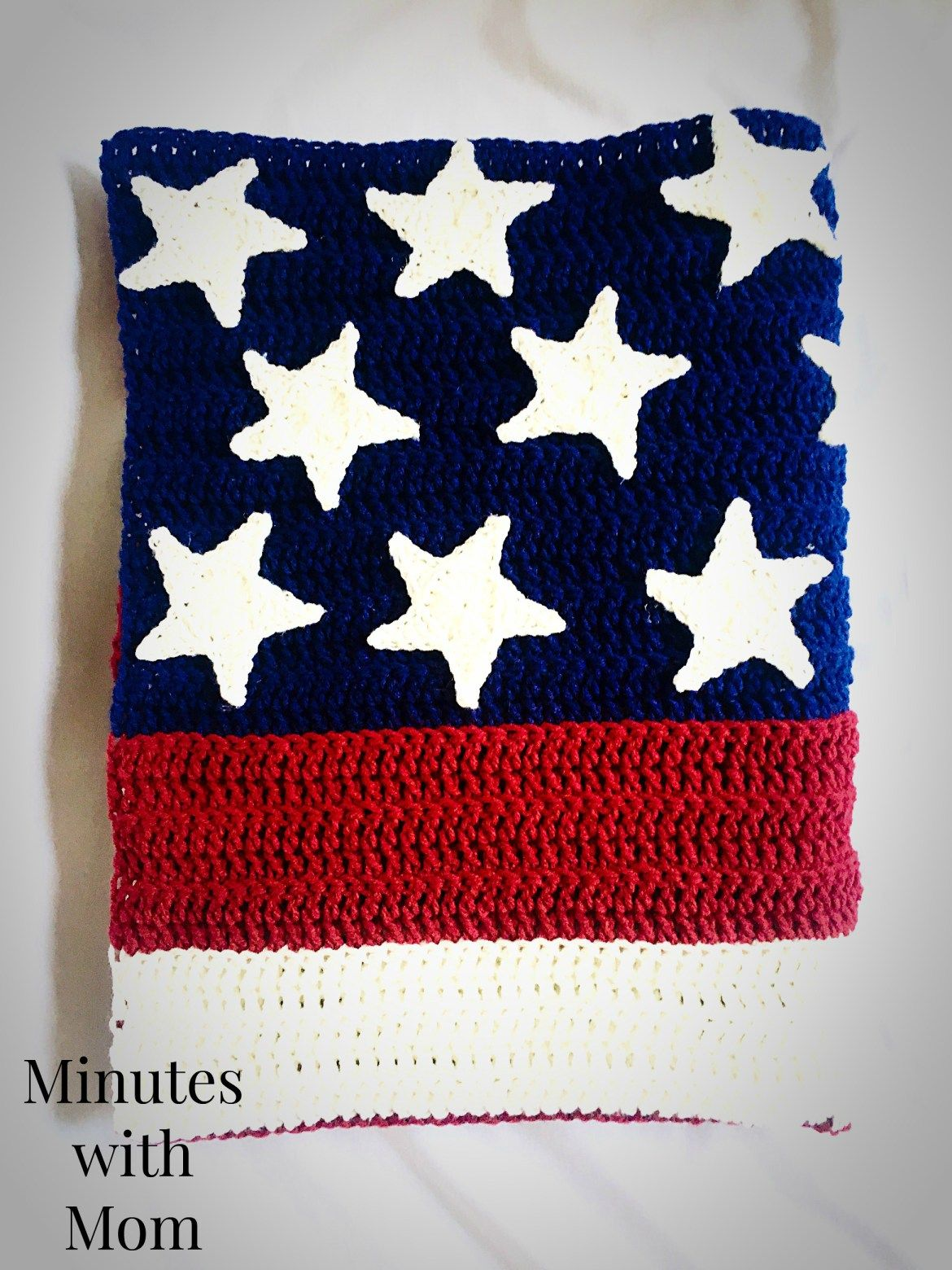America Flag Crochet Blanket with FREE Pattern