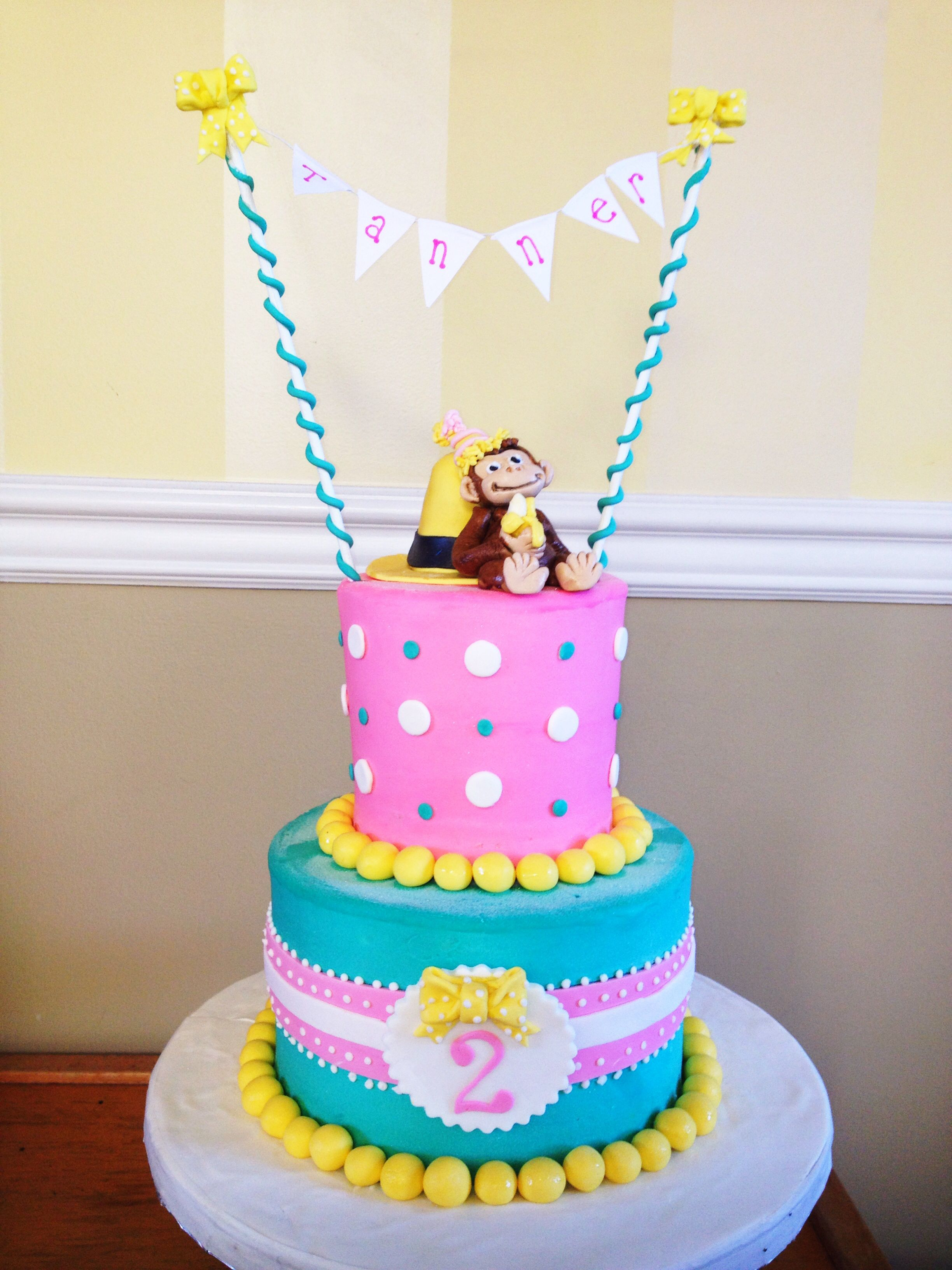 Curious George Cake For Girl Birthday Girl 2nd Birthday