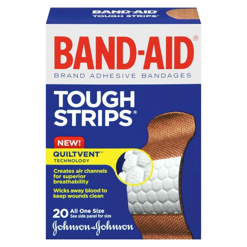 Band Aid Flexible Tough Strips - 20 Count