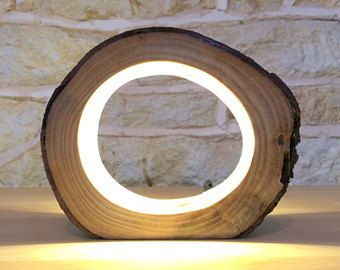 Petit rondin de led table lumineuse lampe bureau clair véritable