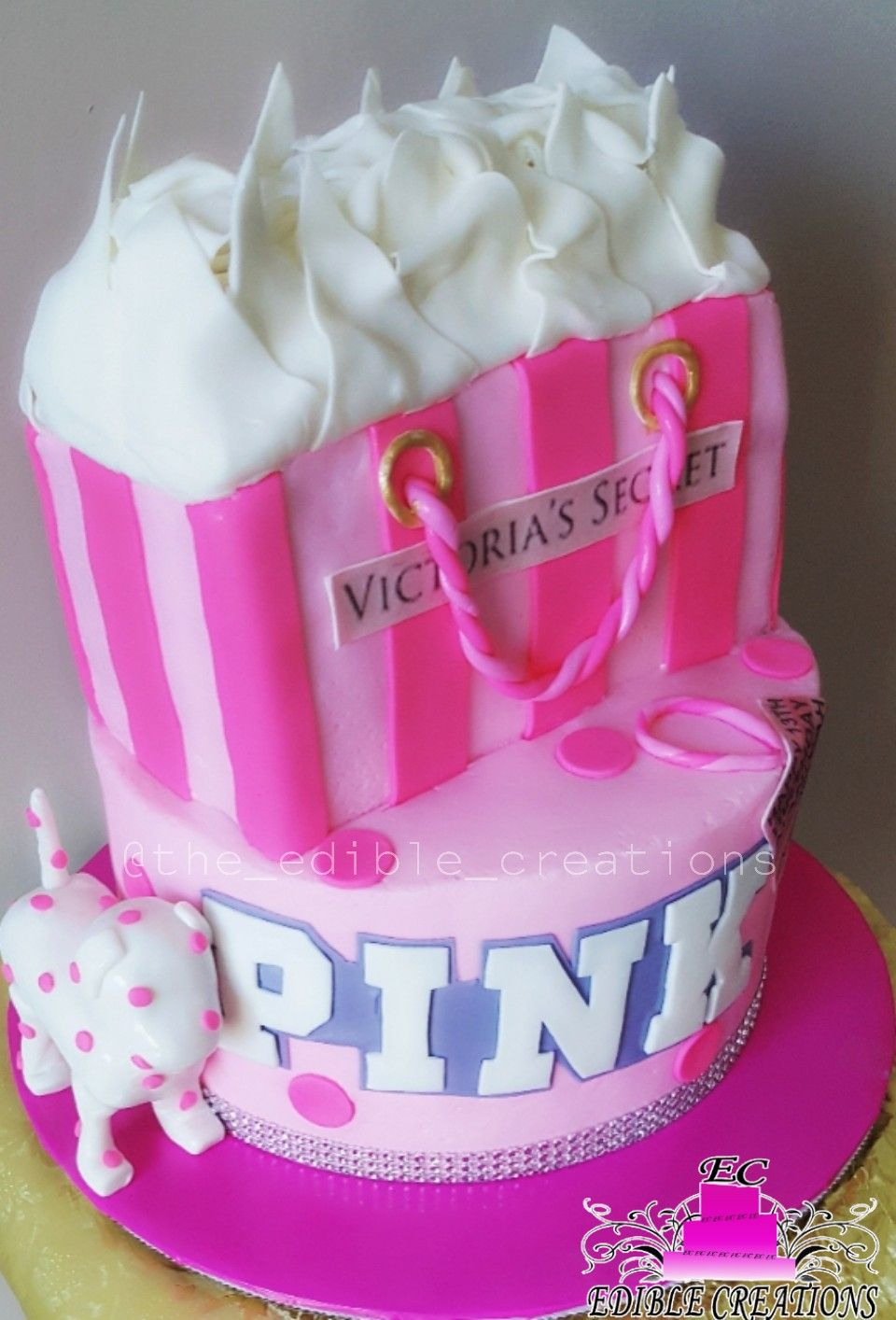 Victorias secret pink cake edible creations pink cake