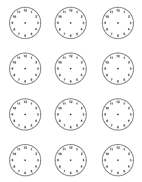 Worksheet Blank Face Worksheet Printable blank clock faces piece for picture schedule visual timetable