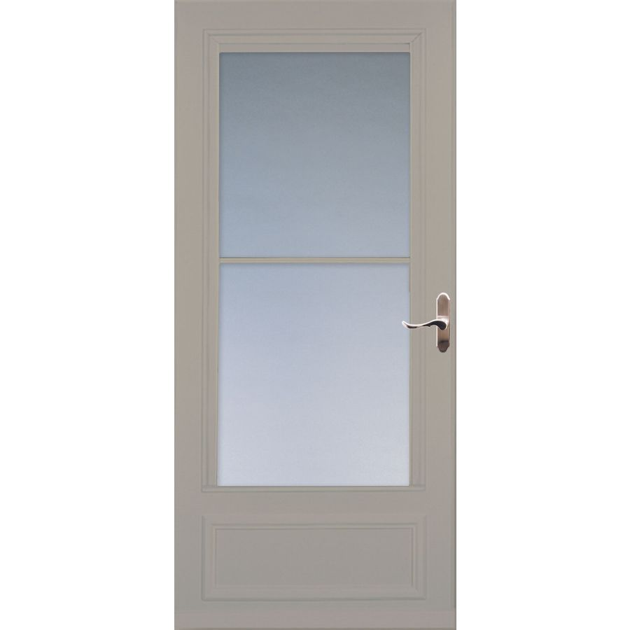Larson Sandstone Mid View Storm Door With Retractable Screen Common