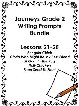Journeys Grade 2-Unit 5-Lessons 21-25 Writing Bundle