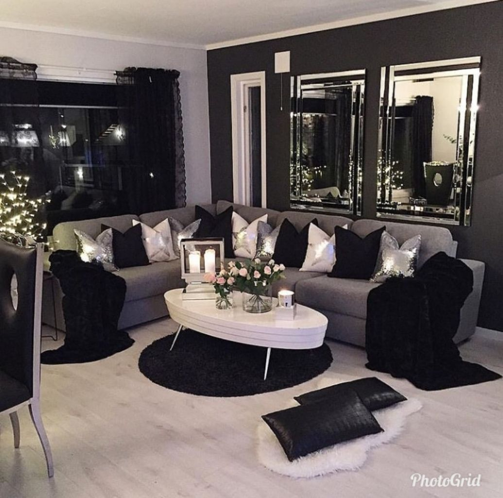 Perfect Complete Black Living Room Decor Living Room Decor Apartment Silver Living Room Complete living room decor