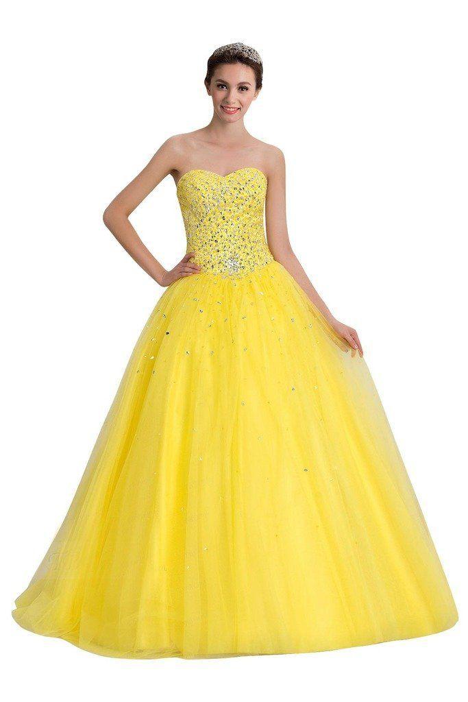 Sisjuly Women S Sweetheart Ball Gown Beaded Floor Length Quinceanera