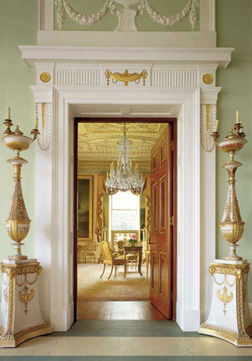 Defining style eagles and urns french interiors french - Federal style interior decorating ...