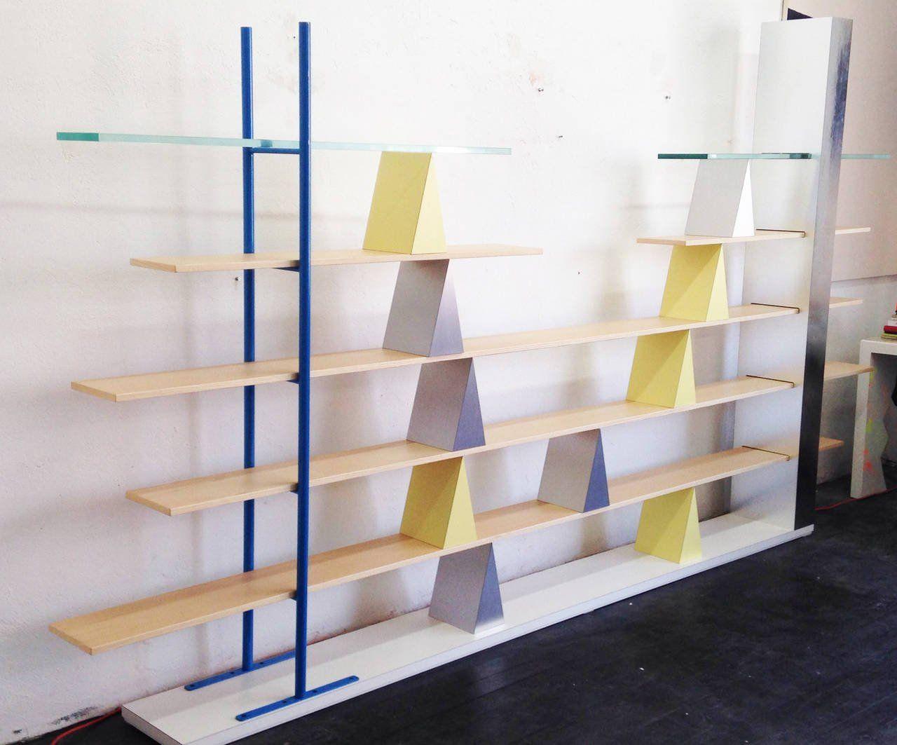 Andrea Branzi Gritti Shelves, Memphis Milano, 1981