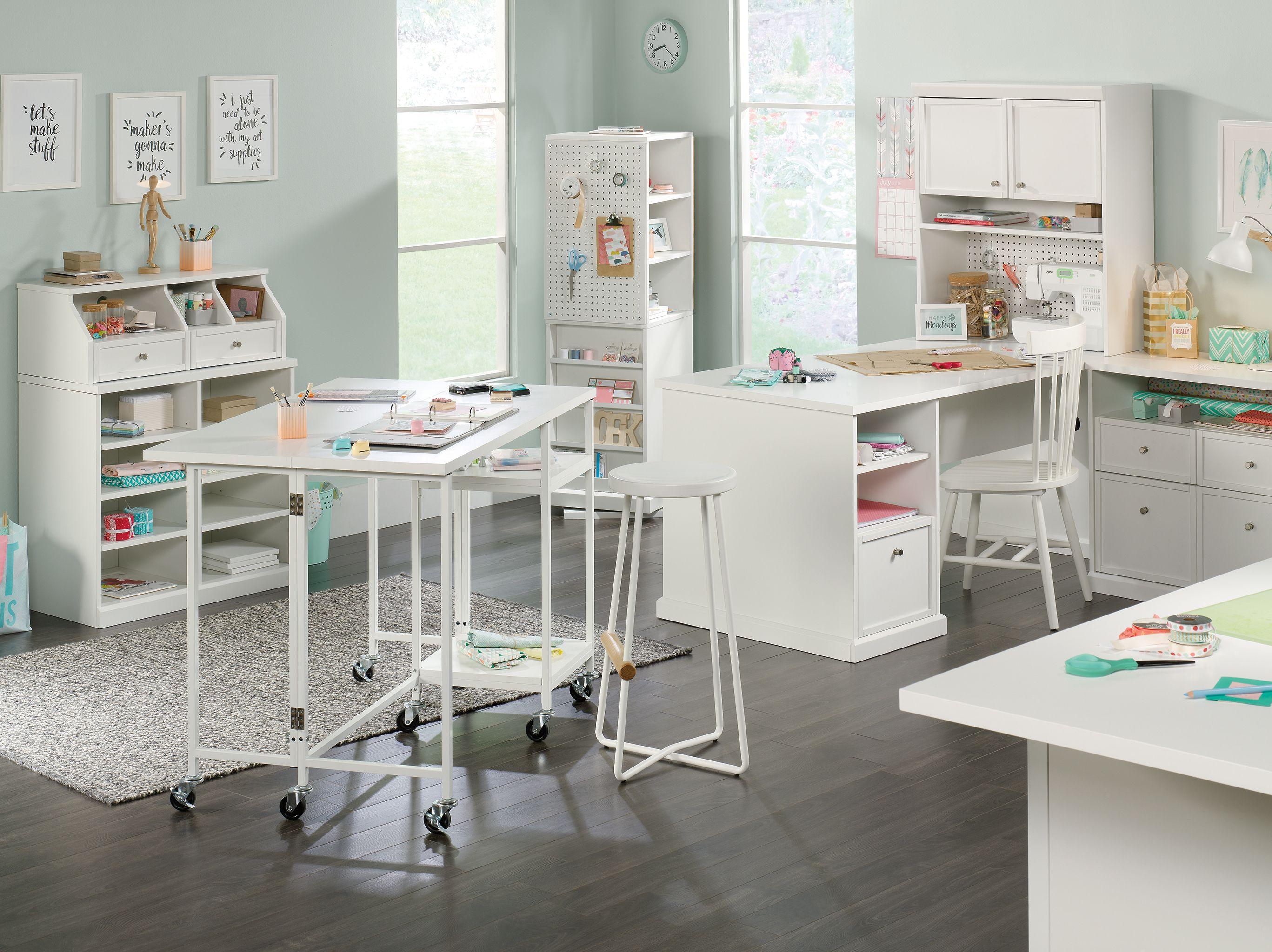 Pin By Christina Keyes Liverman On Craft And Toy Org In 2021 Craft Storage Cabinets Craft Tables With Storage Craft Room Office