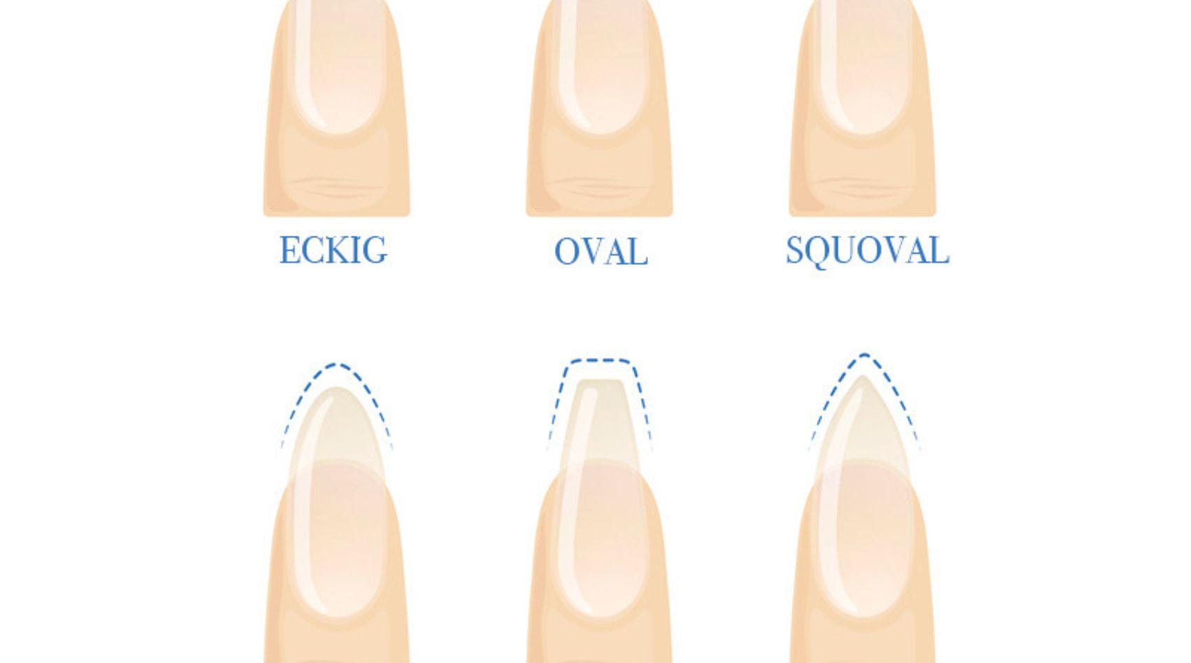 Das sind die bekanntesten Nagelformen