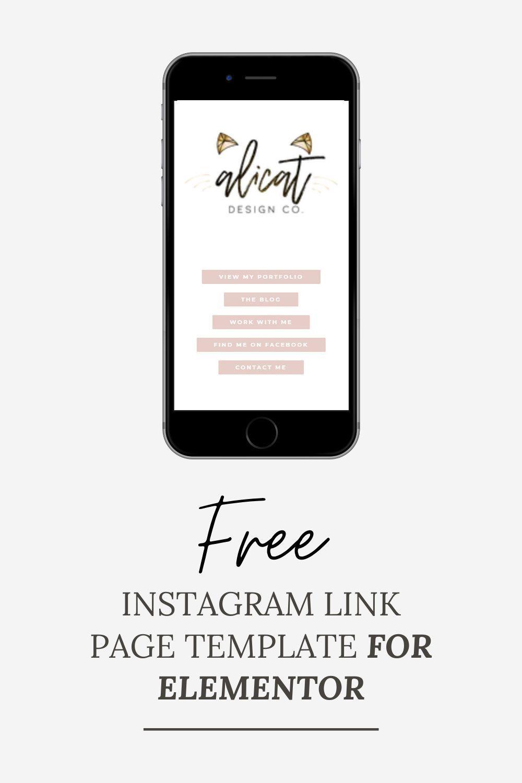 Custom Instagram Link Page For Wordpress Alicat Design Co Instagram Instagram Business Free Instagram