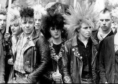 #1980s #80s #punk #era #inspiration #edgy #look #style # ...