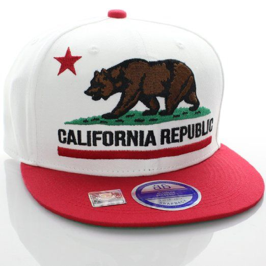 Purple Bill 1 Size Fits Most Black Hat California Republic Snap Back Cap