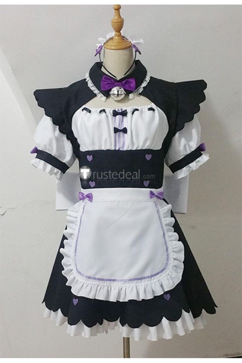 Hot Anime NEKOPARA chocolat Kawaii Maid Wear Halloween Party Costume Cosplay