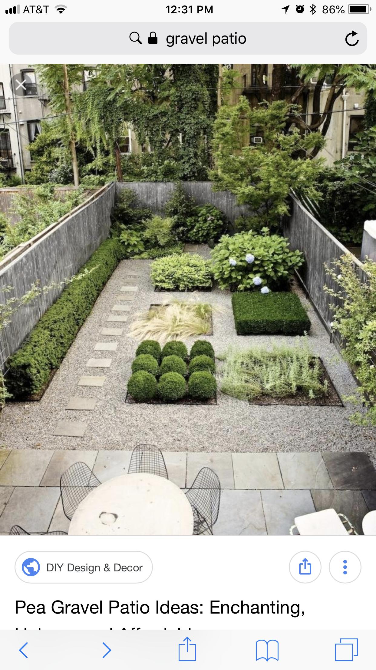 Gravel Courtyard and garden Home Ideas Pinterest