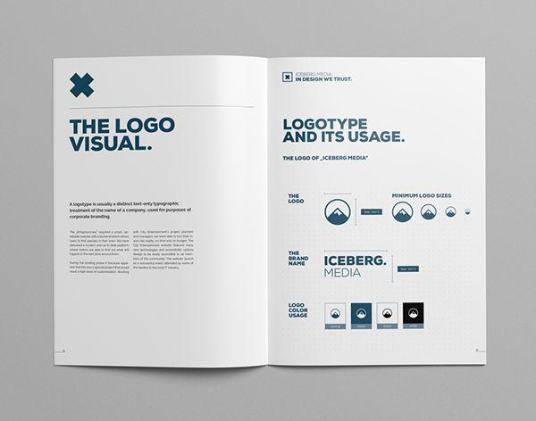 Elite Corporate Design Manual Guide on Behance _ BRAND MANUAL