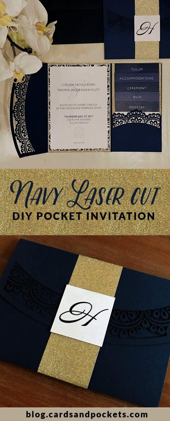 Neat Diy Wedding Invitation Kits Pocket Folds D Cards
