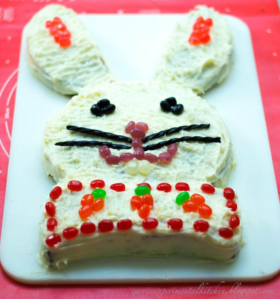 Carrot Cake Easter Bunny Cake | Recipe | Easter bunny cake, Easter ...