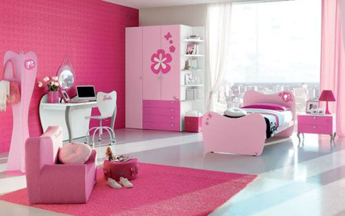 Beautiful Pink Barbie Bedroom Design and Decorations Picture Ideas