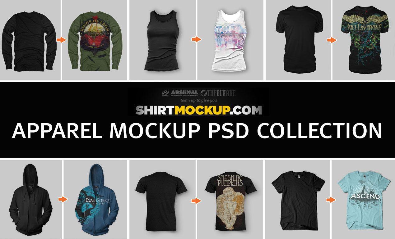 Shirtmockup Com Apparel Mockup Psd Collection Clothing Mockup Mockup Psd Shirt Mockup