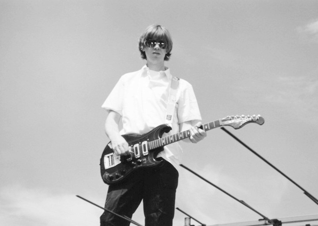 Playing Guitar On A New York City Rooftop Late 90s Photo By Dave