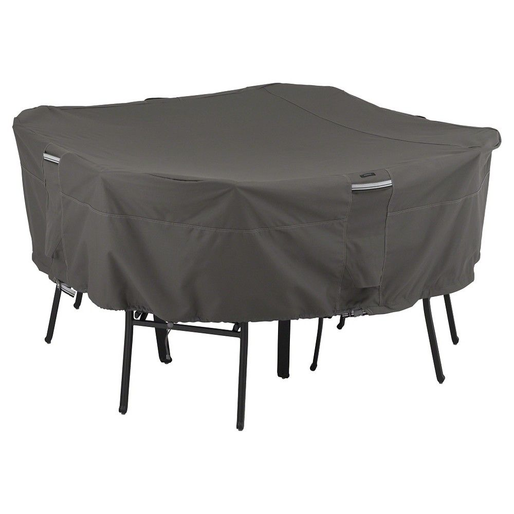 Classic Ravenna Square Patio Table and Chairs Cover-Dark Taupe/